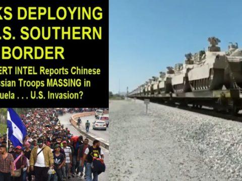США выдвигают танки к границе с Мексикой