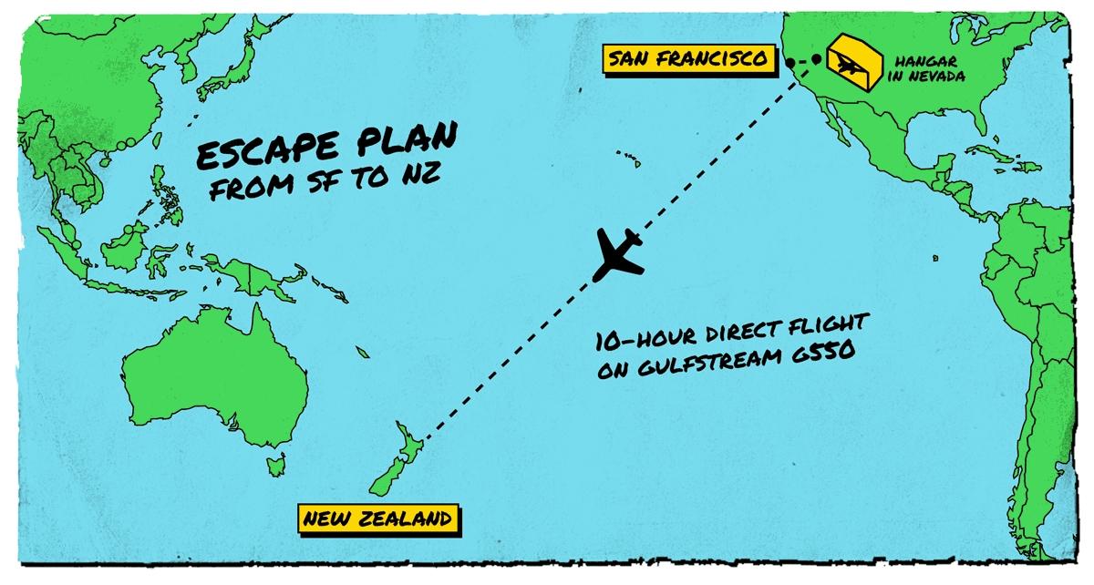 Предположительная карта полета самолета Gulfstream G550