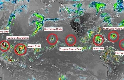 Карта ураганов 2018 года