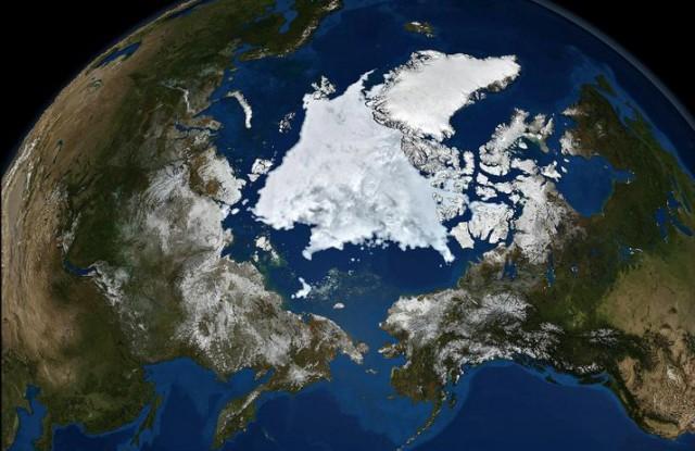 Арктика вид из космоса
