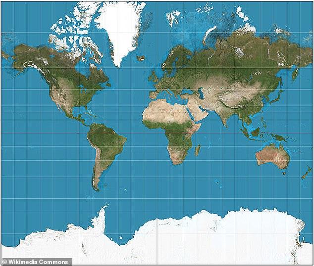 Неверная карта Меркатора