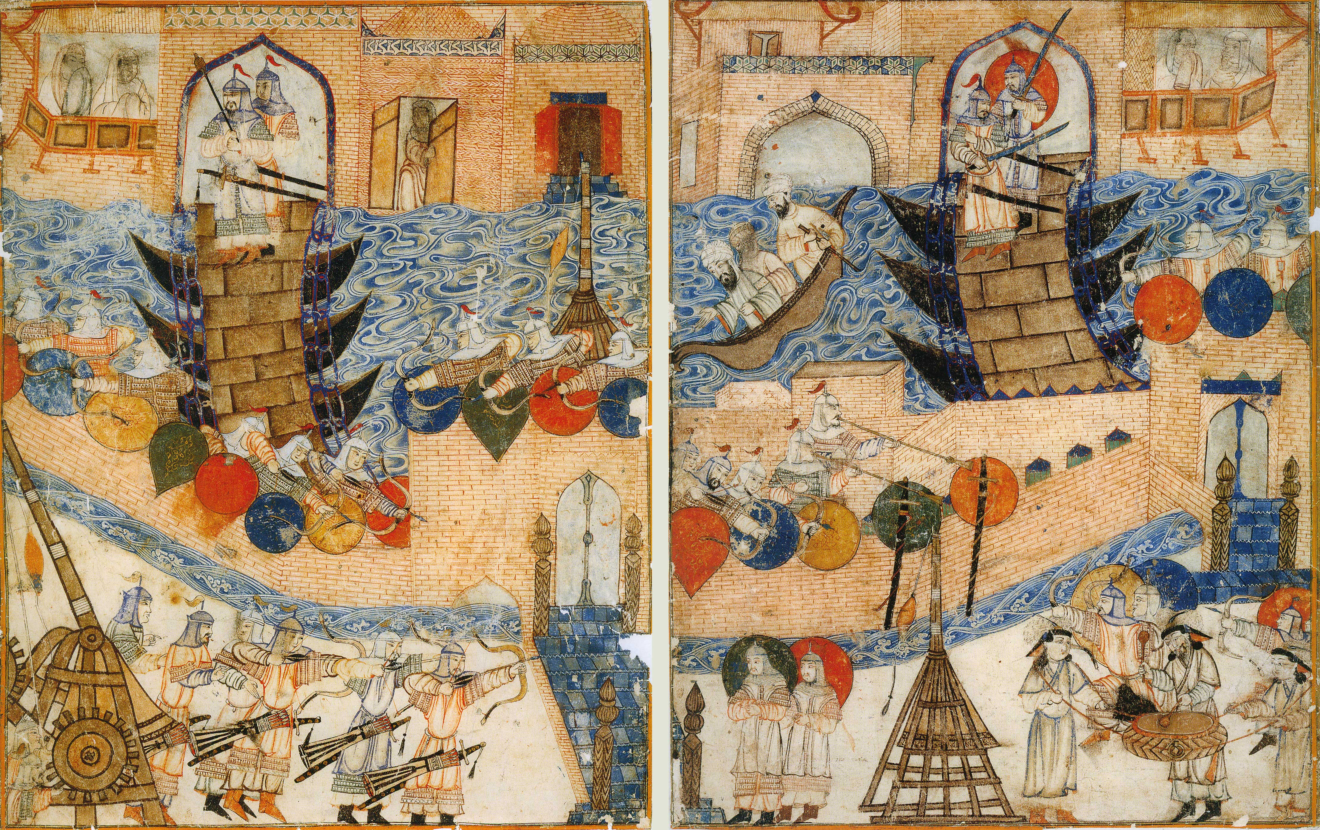 Штурм крепости. Арабская картина