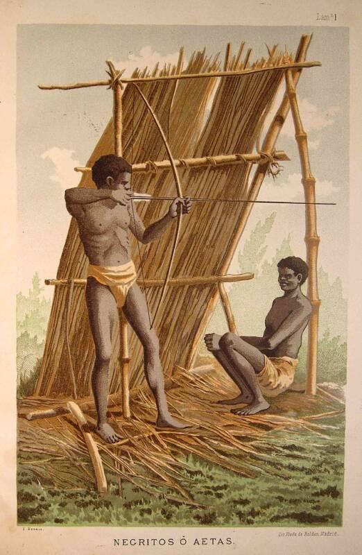 Люди народа аэта, рисунок 1885 года / ©Wikimedia Commons