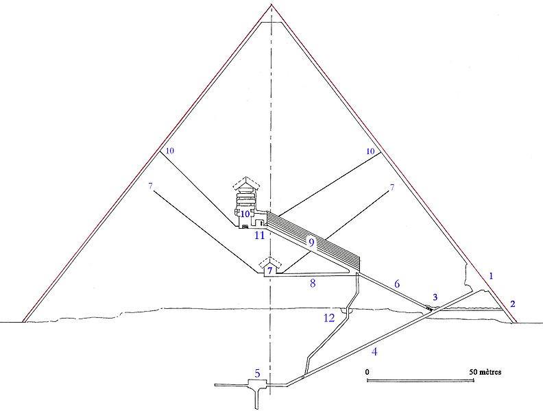 Пирамида Хеопса в разрезе