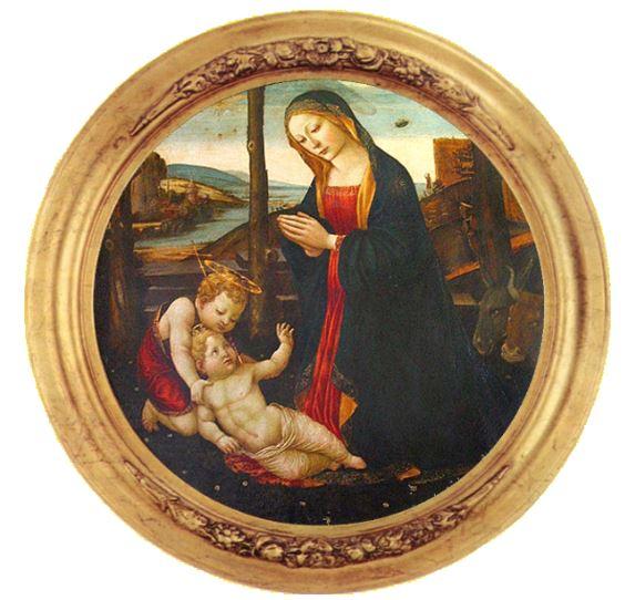 Картина «Мадонна со святым Джованнино», Доменико Гирландайо.
