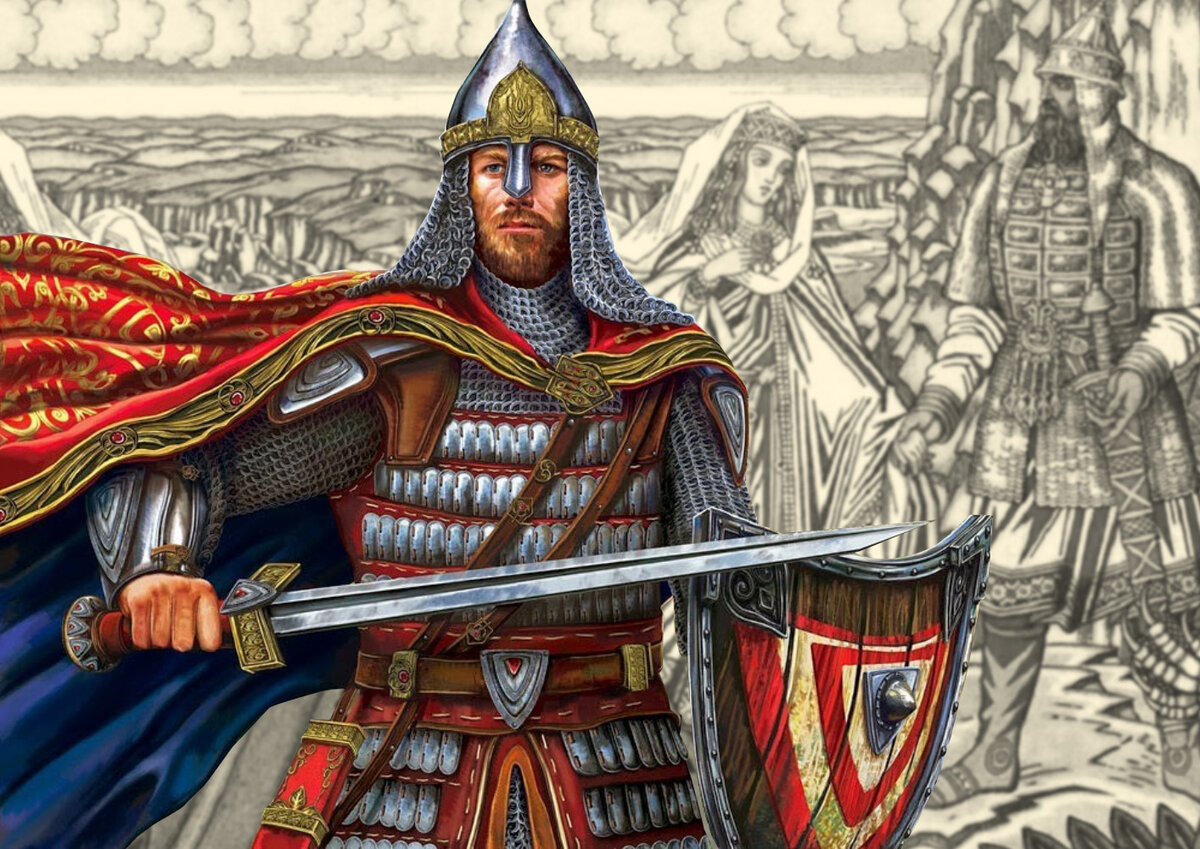 Русский воин-богатырь