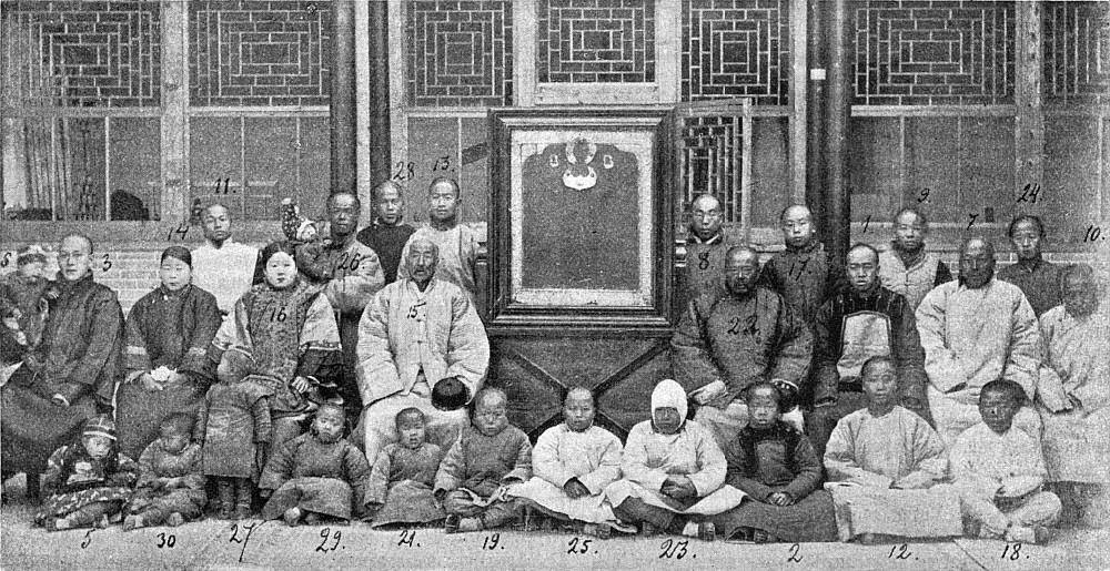 Потомки албазинцев в 1900 году.