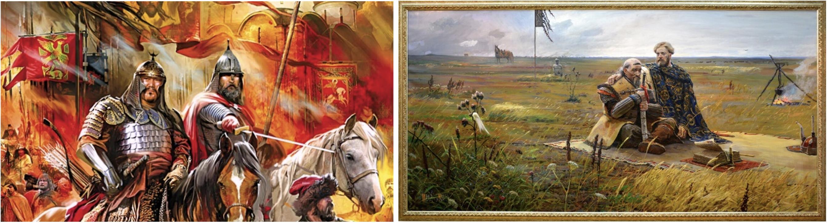Образ побратимов Александра Невского и Сартака в живописи