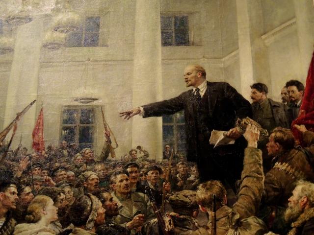 Владимир Серов. Ленин провозглашает советскую власть. 1947