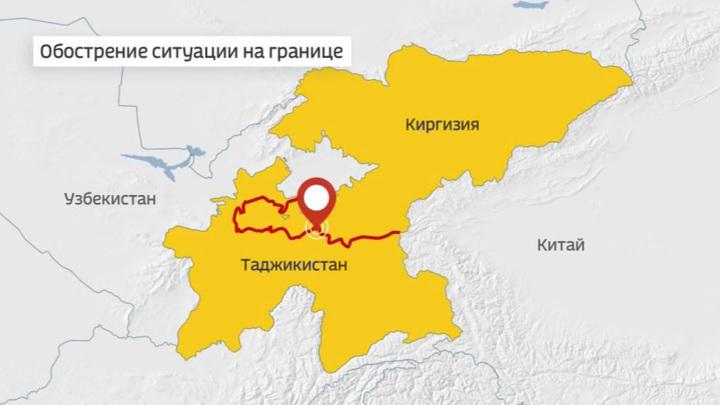 На границе Таджикистана и Киргизии вновь слышны выстрелы