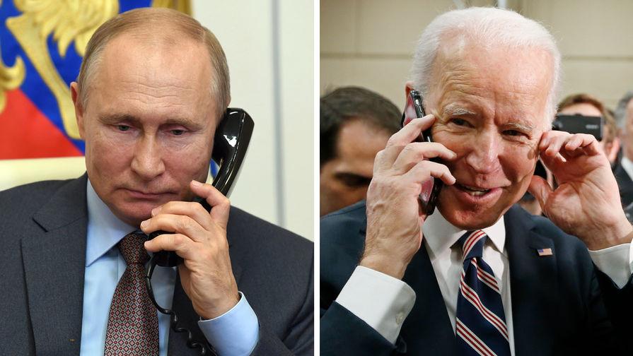 Путин и Байден поговорили по телефону о будущей личной встрече и Украине - Газета.Ru