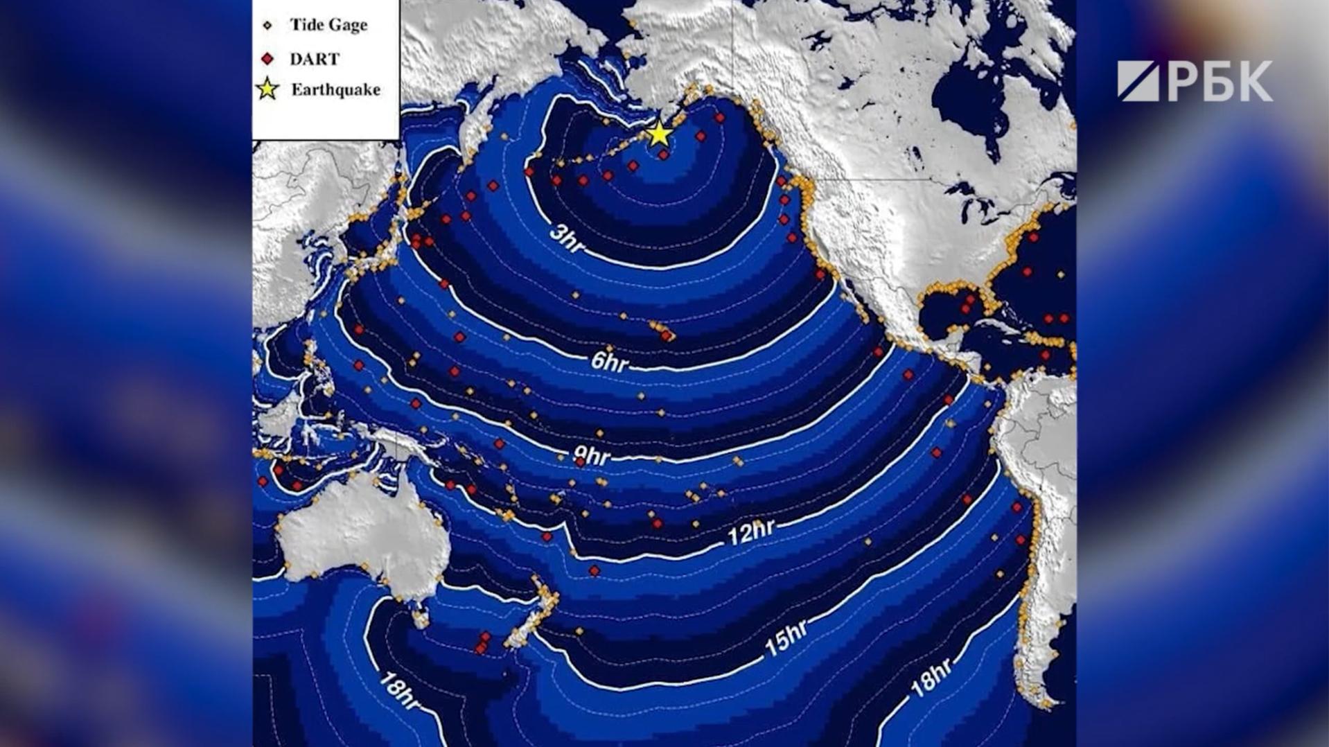 В МЧС исключили цунами у берегов Камчатки после землетрясения на Аляске :: Общество :: РБК